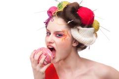 Femme de mode avec la bille Image libre de droits