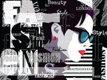 Femme de mode dans l'art de bruit de style Illustration Stock