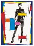 Femme de mode de cubisme illustration stock