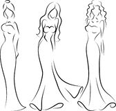 Dessiner Une Silhouette De Femme femme de mode, dessin de main illustration de vecteur - illustration