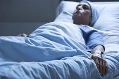 Femme de mort en douleur Images libres de droits