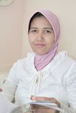 femme de musulmans de robe Images libres de droits