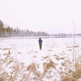 Femme de neige image libre de droits