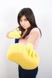 femme de nettoyage Images stock