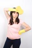 femme de nettoyage Photographie stock libre de droits