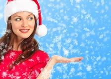 Femme de Noël Photographie stock libre de droits
