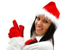 Femme de Noël Photos stock