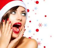 Femme de Noël Image libre de droits