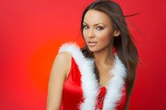 Femme de Noël Photo libre de droits