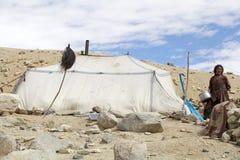 Femme de nomade dans Ladakh, Inde images libres de droits