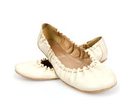 Femme de paire de chaussures Images stock