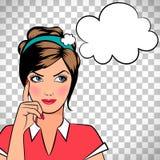 Femme de pensée dans le style d'art de bruit illustration stock