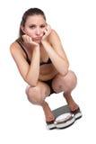 Femme de perte de poids photographie stock