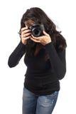 femme de photographe Images stock