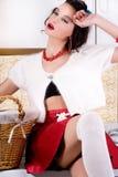 Femme de Pinup dans la blanchisserie photos libres de droits