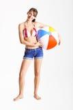 Femme de plage Photographie stock libre de droits