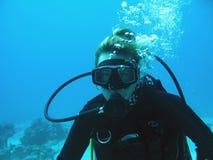 femme de plongeur Photo stock
