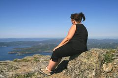 Femme de poids excessif Photo libre de droits