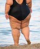 Femme de poids excessif Images libres de droits