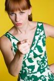 Femme de pointage fâchée Images libres de droits