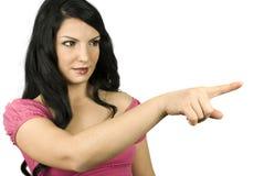 femme de pointage mignonne Images libres de droits