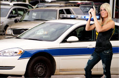 Femme de police Photo stock