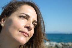 Femme de portrait 45 années Photographie stock