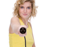femme de pouvoir de câble Photo libre de droits