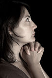 Femme de prière Image stock