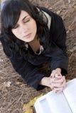Femme de prière Photographie stock
