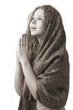 Femme de prière Photos stock
