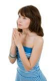 Femme de prière Images stock