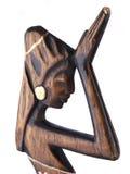 Femme de prière - statue sur le fond blanc Image libre de droits