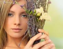 Femme de printemps Images stock