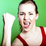 femme de réussite heureuse Photographie stock libre de droits