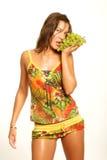 femme de raisins de table Images stock