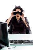 femme de regard binoche Photographie stock libre de droits