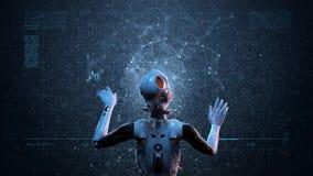 Femme de robot, femme de la science fiction illustration de vecteur