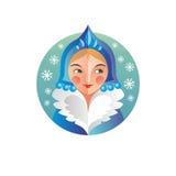 Femme de Russe de nouvelle année et de Noël de vacances Photos libres de droits