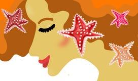 Femme de sable Illustration Libre de Droits
