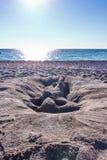 Femme 2 de sable d'horizon Photographie stock libre de droits