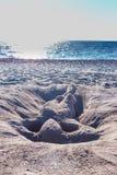 Femme 5 de sable d'horizon Photos libres de droits