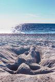 Femme 6 de sable d'horizon Photo stock