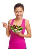 Femme de salade photographie stock libre de droits