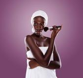 Femme de salle de bains Image stock
