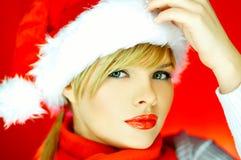 Femme de Santa Photographie stock