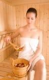 femme de sauna Images libres de droits