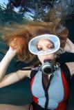 Femme de scaphandre Photographie stock libre de droits