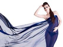Femme de sensualité dans la mousseline de soie Images libres de droits