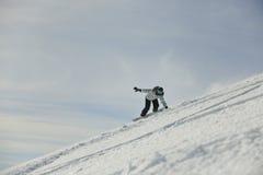 Femme de Snowboard Images stock